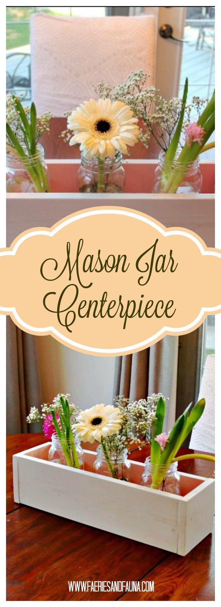 Mason Jar Crafts, Mason Jar Projects, Mason Jar Spring Decor, Spring Decor, Wood working Decor, Farmhouse Decor