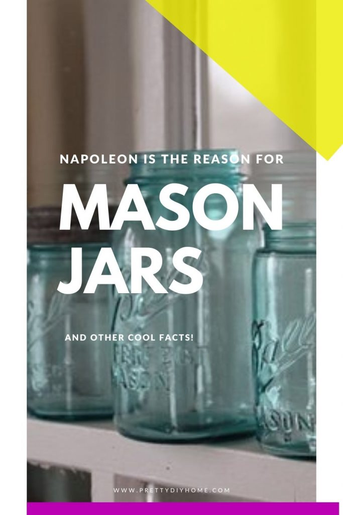 A collection of Mason jars with a saying that refers to them begin created by Napoleom