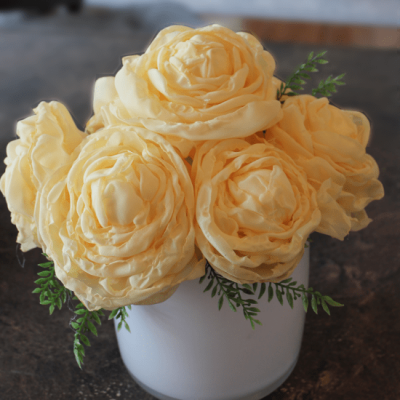 DIY Fabric Peony Arrangement