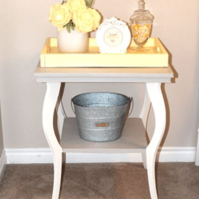 Finishing DIY Farmhouse Bed & End Table.