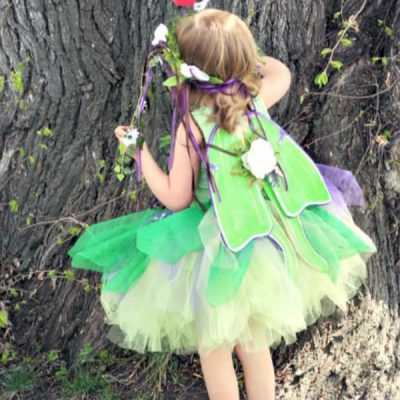 DIY Fairy Costume in a Forest Fairy Style