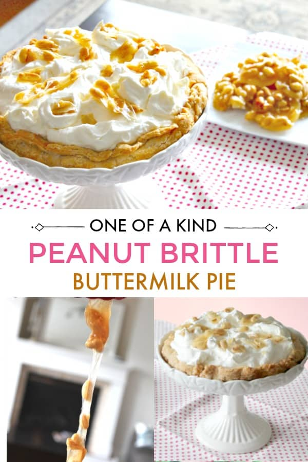 Buttermilk Pie with Peanut Brittle topping.