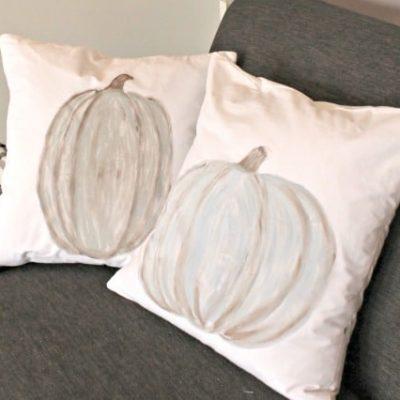 DIY Pumpkin Cushions