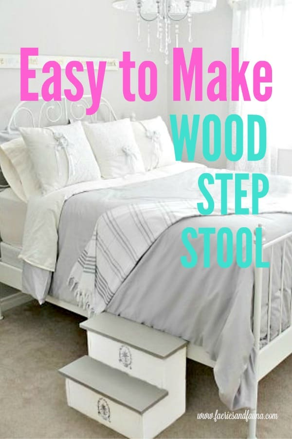 Easy to Make Wood Step Stool, diy woodworking project.  Easy wood project, wood project, wood stool plans