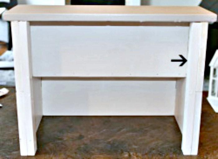 Reinforcement braces for inside a DIY wooden step stool.  Easy wood project, wood project, wood stool plans