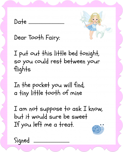 Tooth Fairy Letter. tooth fairy, the tooth fairy, tooth fairy letter, tooth fairy ideas, simple sewing projects, sewing crafts