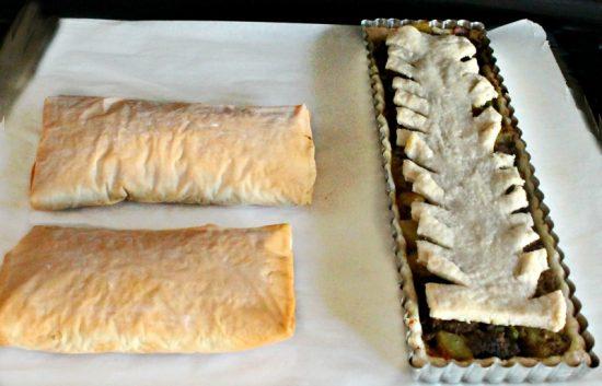 Filo, Pie, Savory, Fall, Recipe