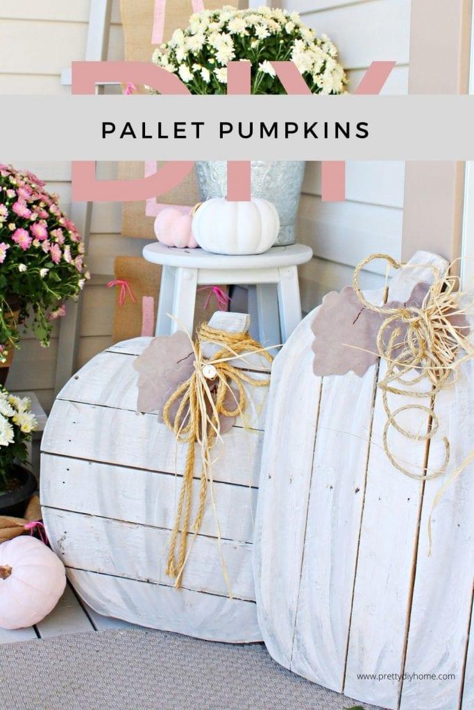 Neutral pallet pumpkin craft for cheap.
