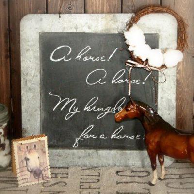 Beswick Thoroughbred Figurine and Farmhouse Decor
