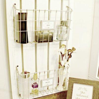 Farmhouse Basket Shelf