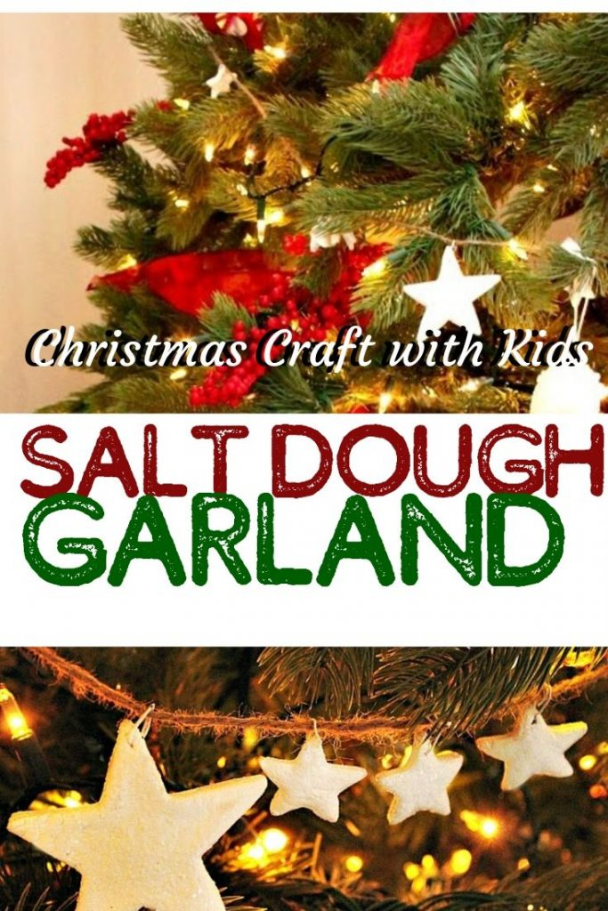 Easy Craft for kids and adults, a pretty salt dough tree garnland.