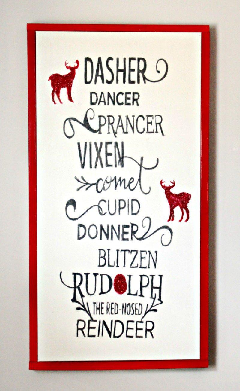 DIY Children's Reindeer Name Sign