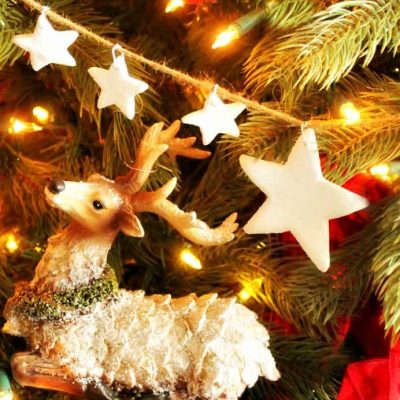 DIY Christmas Ornament Star Garland