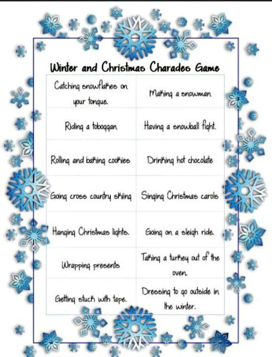 A homemade Christmas Game for Families