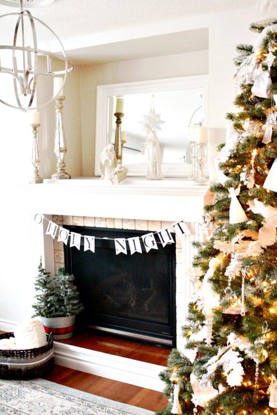 Home Tour, Decorations, White Christmas