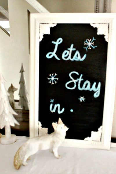 Winter Decor, Home Decor, Chalkboard, DIY, Refurbish, Crafts