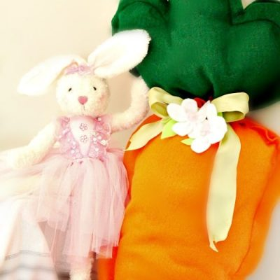 Easy to Sew Giant Carrot Cushion for Easter