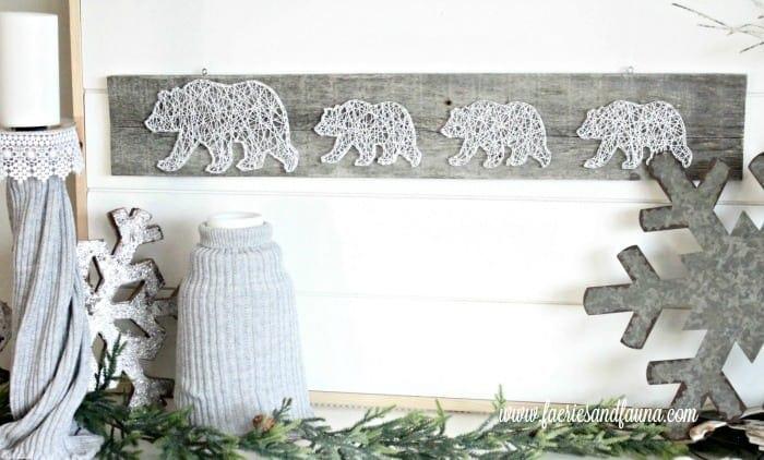 Winter decor using wool sweater