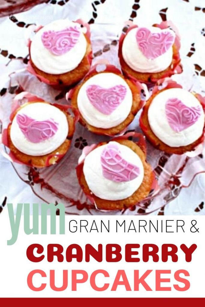 Gran Marnier and Cranberry cupcakes for Valentines day