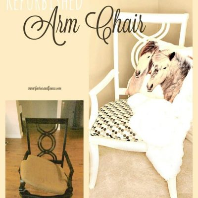 Refurbished Chair with Chalk Paint