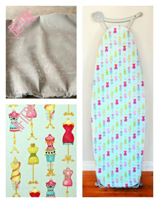 DIY Iron Board Cover, Ironing Board Cover, DIY, Pretty Ironing Board Cover