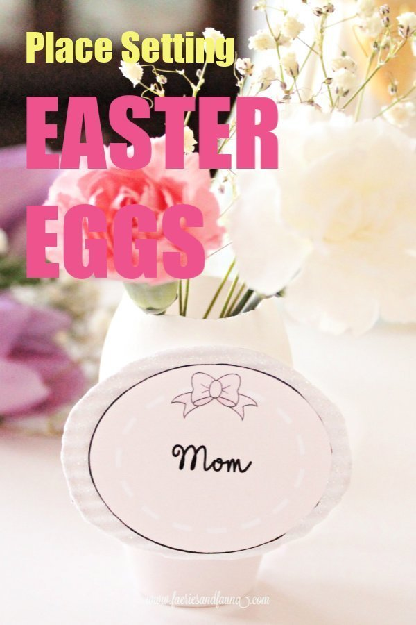 Easter Brunch Table Setting Place Holders