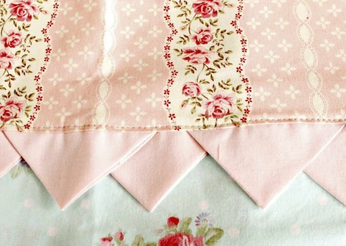 Sew a pretty spring towel with prairie points