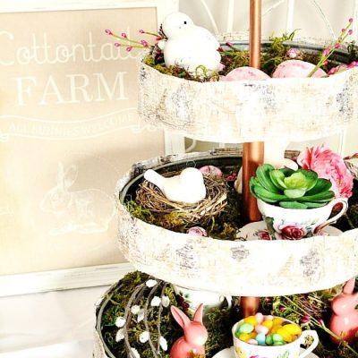 Three Tiered Tray for Spring