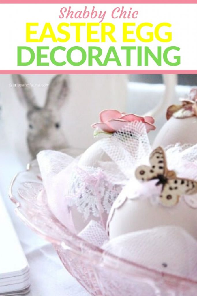 how to blow out and egg decorate shabby chic Easter eggs for decorating.