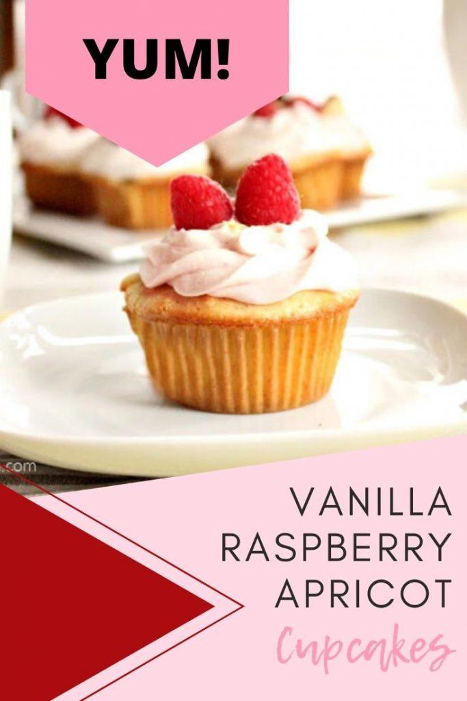 Homemade Vanilla cupcake recipe with raspberry mascarpone icing recipe.