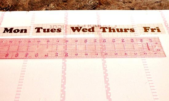 DIY, Wall Calendar, DIY Home Decor, Woman's office decor, Pretty office decor, pretty wall calendar.