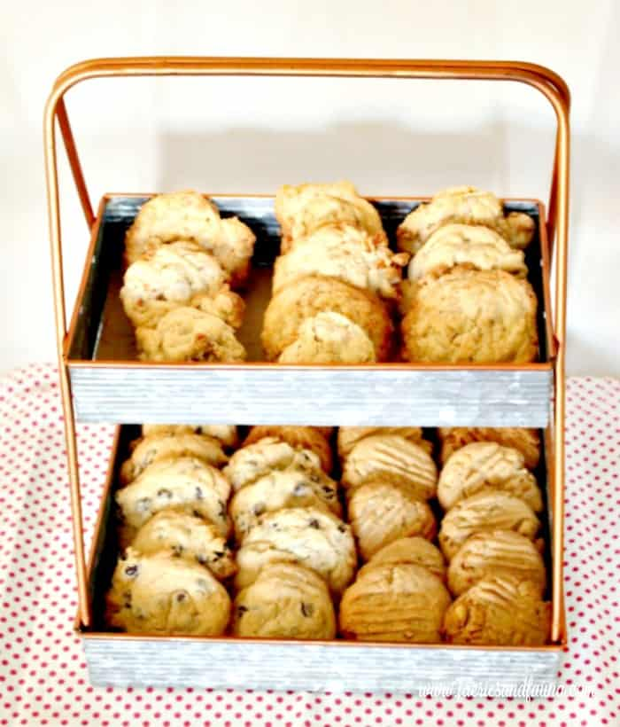 Four dozen different cookies from one recipe of Add Anything Cookies Cookie Recipe, Drop Cookies, Cookies, Chocolate Chip Cookie Recipe, Peanut Butter Cookie Recipe, Coconut Cookies Recipe, Raisin Cookie Recipe, Add Anything Cookie Recipe, Add Anything Cookies
