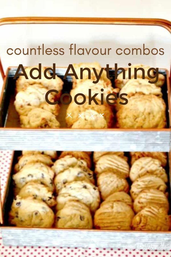 A Basic recipe cookie mix with different combinations of flavours