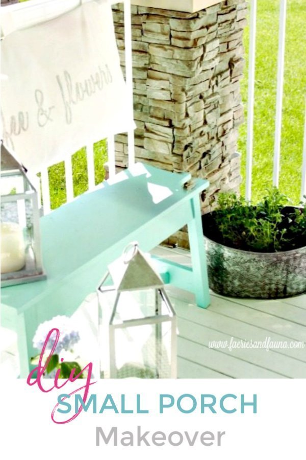 Several outdoor DIY projects creating a pretty outdoor sitting area.
