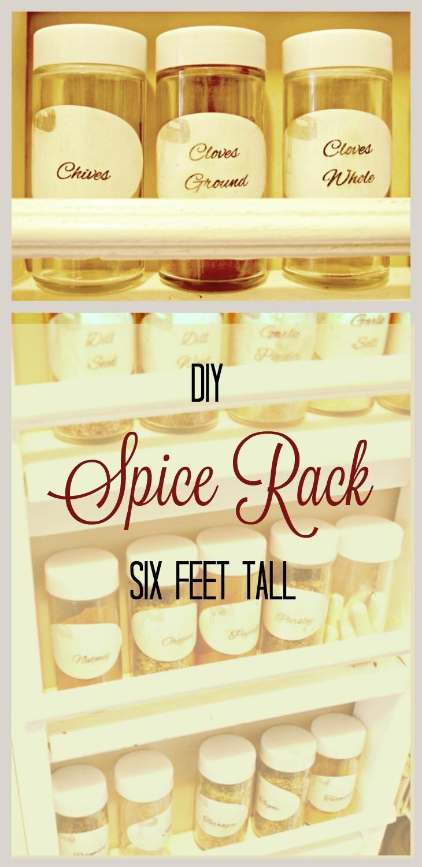 DIY Spice Rack, Kitchen Storage Hacks,Pantry Storage, Organizing, Kitchen Organizing, Pantry Organizing Ideas