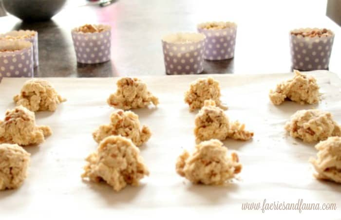 Add anything cookies lined up on a cookie sheet. Cookie Recipe, Drop Cookies, Cookies, Chocolate Chip Cookie Recipe, Peanut Butter Cookie Recipe, Coconut Cookies Recipe, Raisin Cookie Recipe, Add Anything Cookie Recipe, Add Anything Cookies