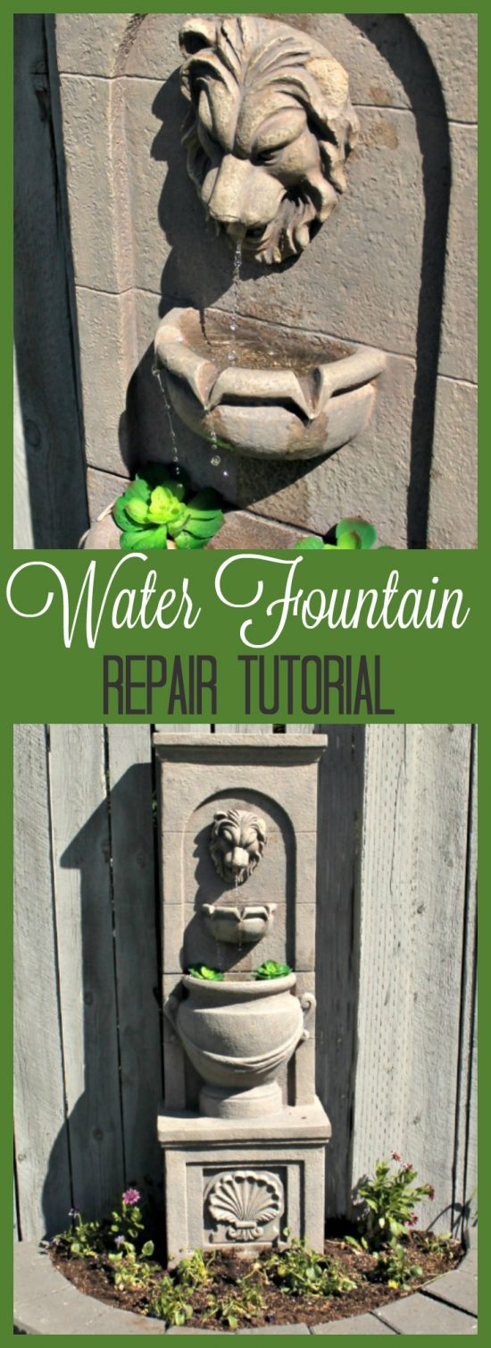 fountain repair, how to fix a fountain, garden fountains, cheap water fountain