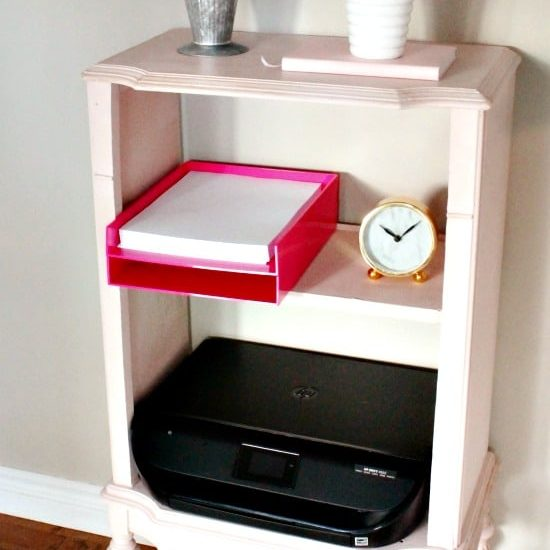 Upcycled vintage cabinet makeover with chalk paint.