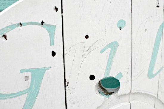 painted lettering, silhouette stencil cable Spool ideas, wood cabe spool projec, arge wooden spool crafts, DIY deck art, DIY deck decor