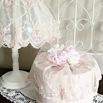 Vintage DIY Hatbox with Shabby Chic Style