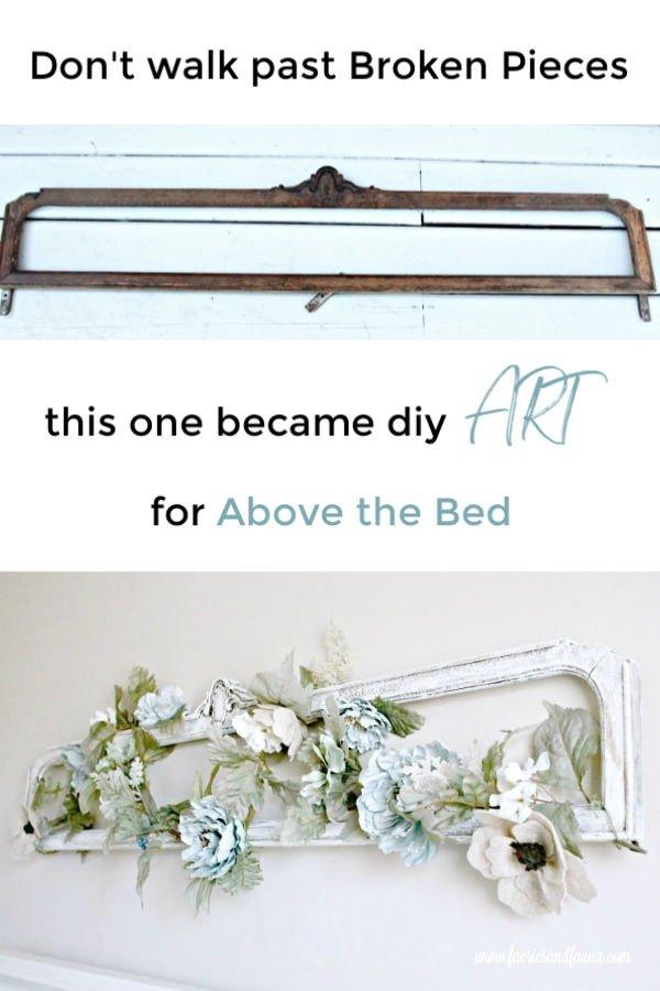 A part of a dresser gets a makeover to farmhouse art.