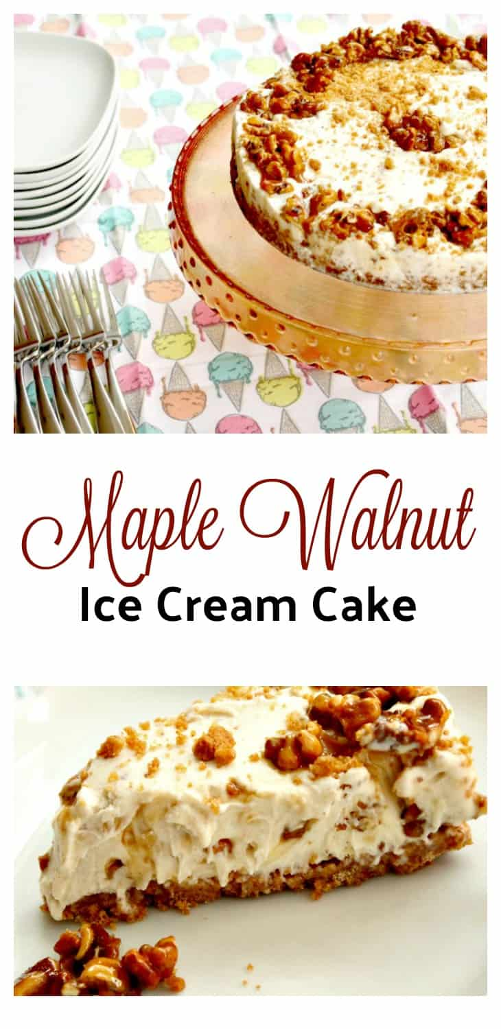 Maple Walnut Ice Cream Cake Recipe