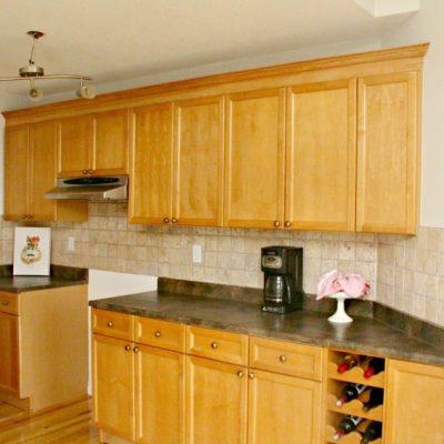 Adding Kitchen Cabinet Moulding