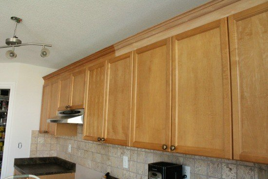 Adding Kitchen Cabinet Moulding To, How To Install Crown Molding On Existing Kitchen Cabinets