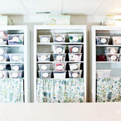 Organizing Craft Room Shelves