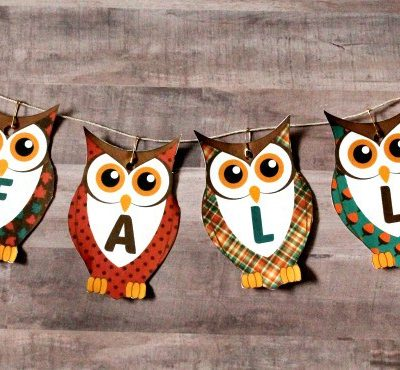 Free Printable Fall Banner – Owls and Fall
