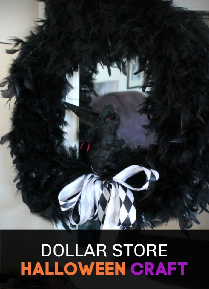 A Halloween Dollar Store wreath.