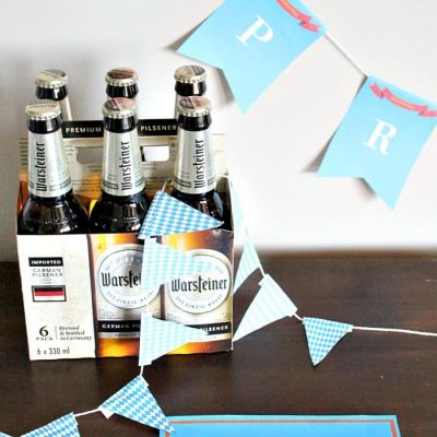 Oktoberfest Table Decor with Simple Appetizers