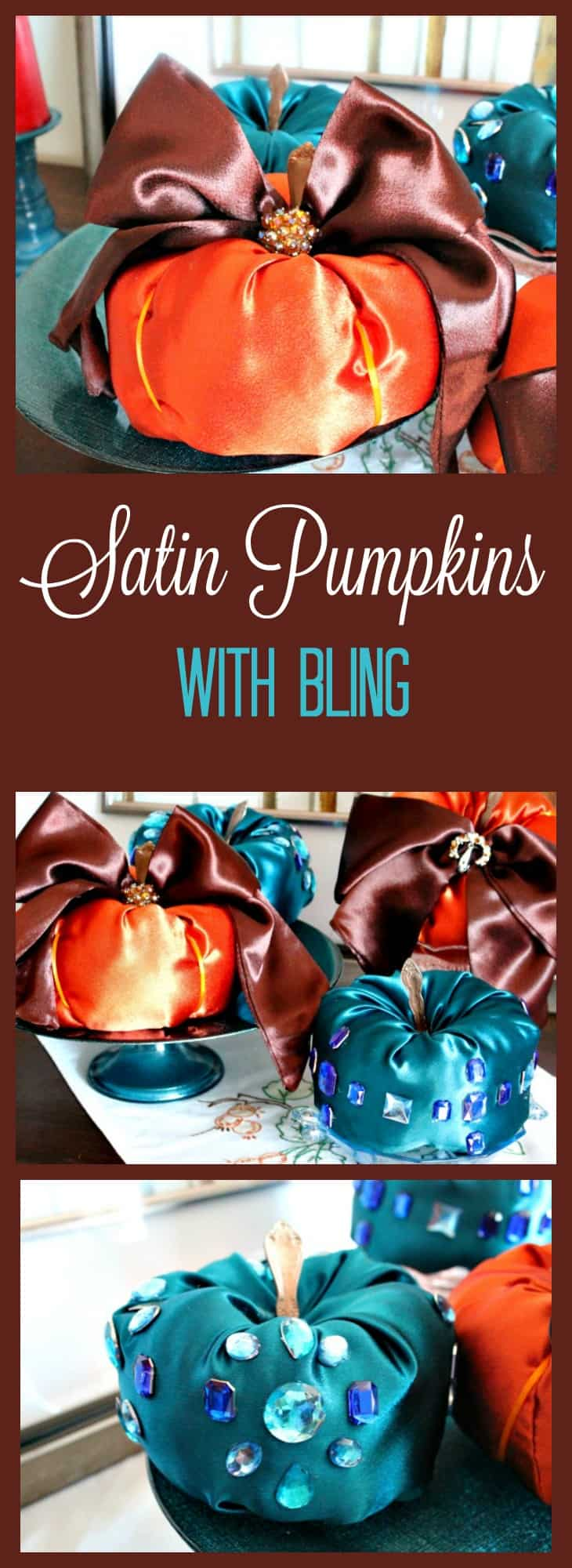 Diy Fabric Pumpkins, How to make fabric pumpkins, satin pumpkins, diy fall decor.
