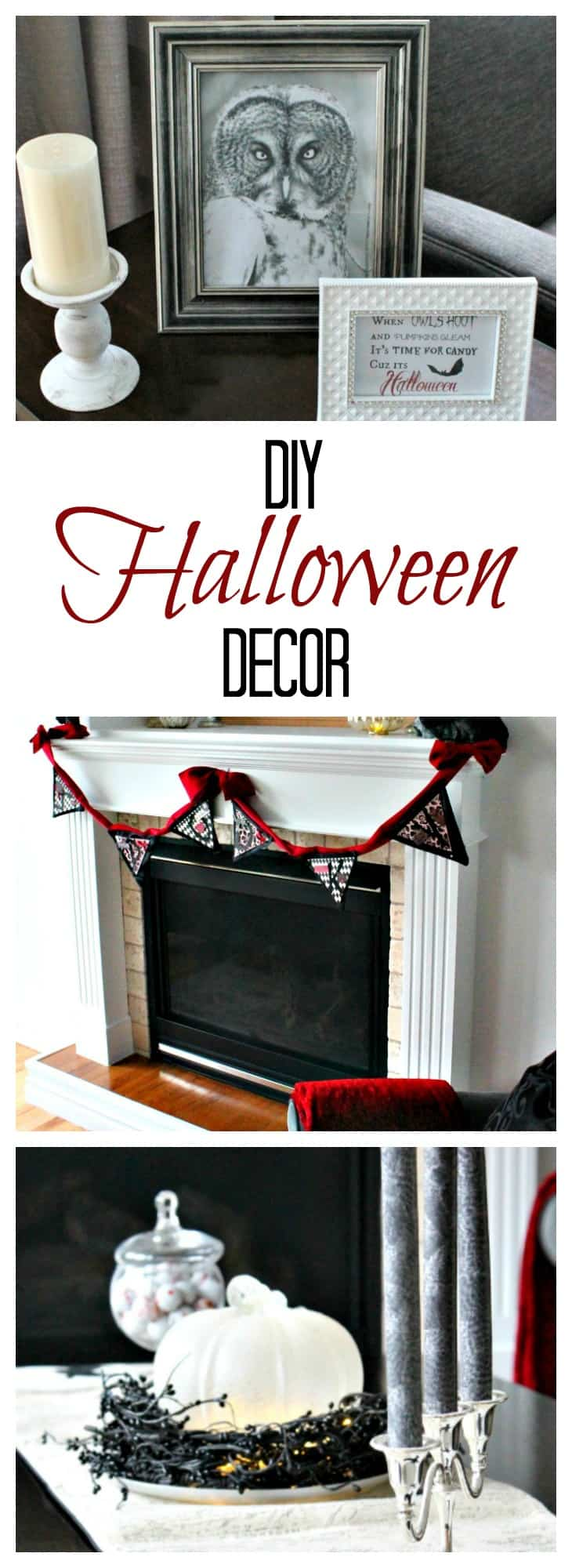 Pretty Halloween, Elegant Halloween, DIY Halloween Decorations, Halloween Decor, DIY Halloween Decor